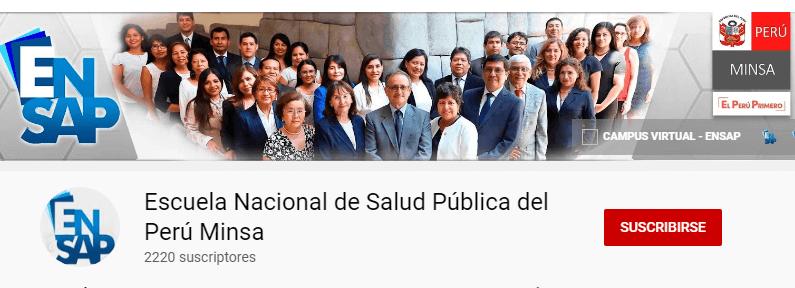 cursos virtuales del Minsa Perú 2020 (ENSAP / PROFAM)